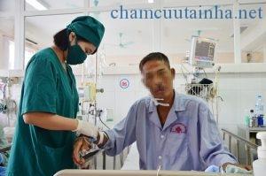 Bệnh nhân nhiễm liên cầu lợn được cứu sống. Ảnh: Tạ Quân