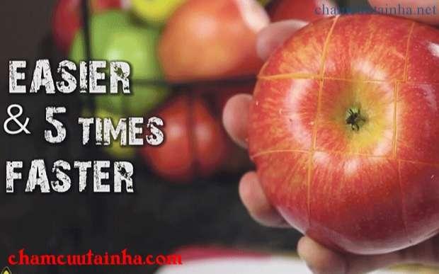 bổ táo nhanh và đẹp mắt