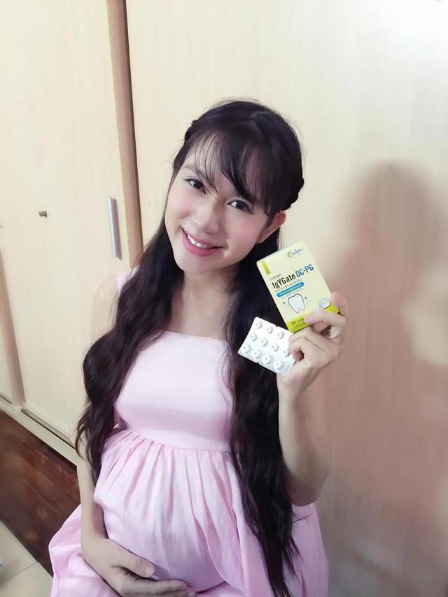 Minh Hà ( Vợ ca sĩ Lý Hải) – luôn đề cao việc bảo vệ răng lợi khi mang thai