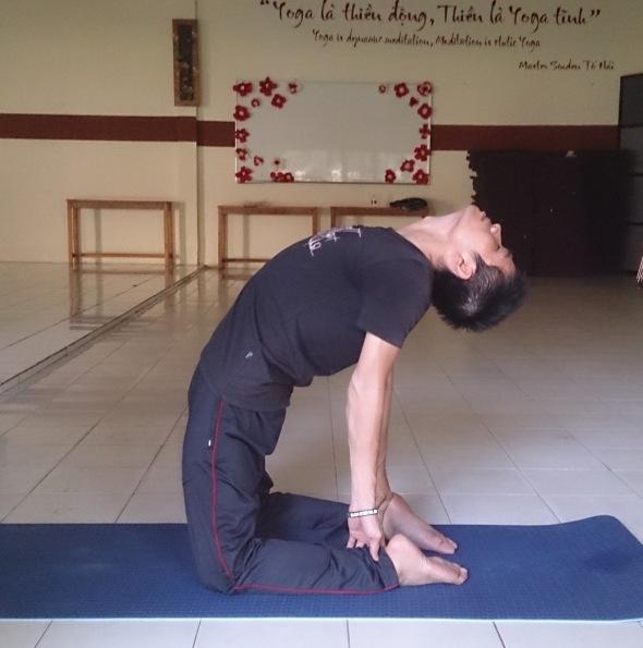 Yoga đã giúp Lê Thanh Toàn cải thiện được cột sống