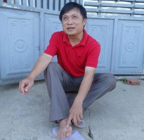 Anh Lục Văn Chung, thôn Quẻ nhớ lạị lúc bị rắn cắn