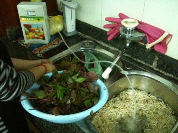 Thiết bị khử độc ozone đã xuất hiện phổ biến trong bếp gia đình Việt nhiều năm trở lại đây. Ảnh: TL