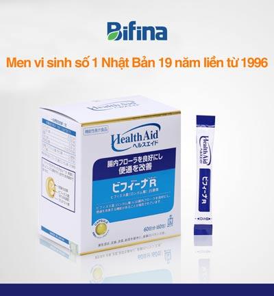 Rối loạn tiêu hóa lâu năm, Bifina, Bifina Nhật bản, Men vi sinh, Men vi sinh Bifina