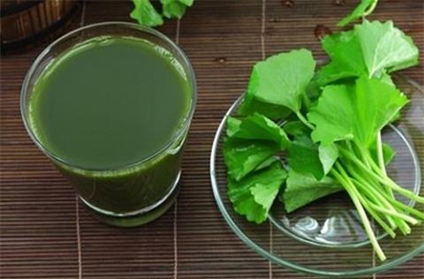 Nước cốt rau má dùng làm mặt nạ giúp duy trì sự tươi trẻ cho làn da.